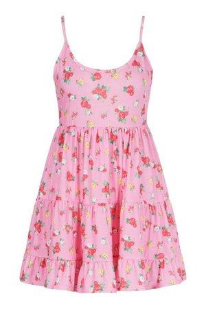 Beach Ditsy Floral Swing Dress | boohoo
