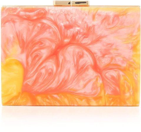 Marzook Pastel Marbled Capsule Resin Box Clutch