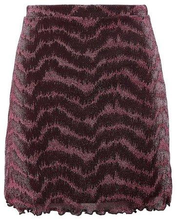 **Lola Skye Pink Glitter Mini Skirt