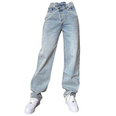 High Rise Straight Leg Jeans - Boogzel Apparel