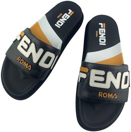 Fendi X Fila Multicolour Plastic Sandals