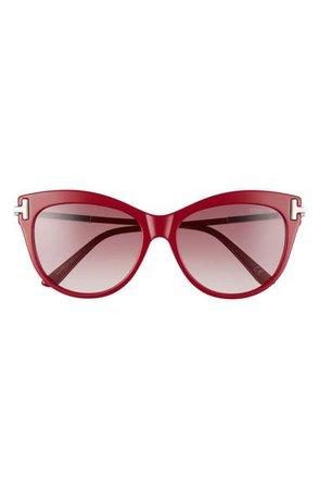 Tom Ford Kira 56mm Gradient Cat Eye Sunglasses | Nordstrom