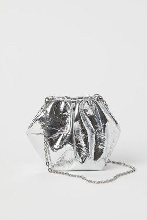 Mini Shoulder Bag - Silver