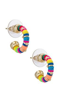 Kendra Scott Reece Huggie Earrings in Gold Neon Mix   REVOLVE