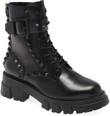 Lewis Stud Combat Boot