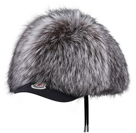 Genuine Fox Fur Baseball Cap