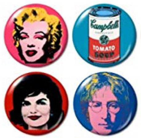 Andy Warhol badge