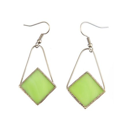 Jewelry- Diamond Earrings, Lime Green – Switchables