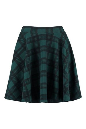 Tartan Check Fit & Flare Skater Skirt | Boohoo UK