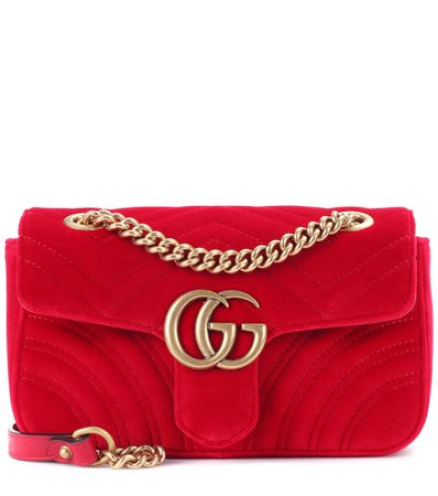 Gg Marmont Mini Velvet Shoulder Bag | Gucci - mytheresa.com