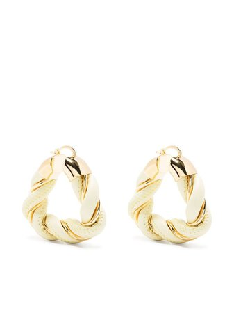 Bottega Veneta Braided Effect Hoop Earrings - Farfetch