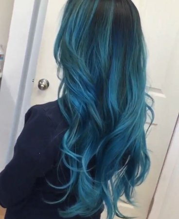 Blue Teal Hair