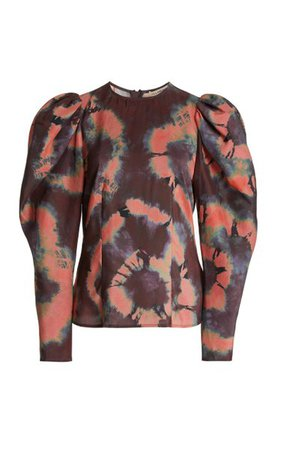 Ora Puffed-Sleeve Silk Blouse By Ulla Johnson | Moda Operandi