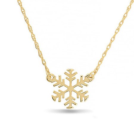 Mini Snowflake Necklace in 14K Gold | Online Exclusives | Collections | Zales