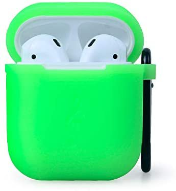 Amazon.com: Waterproof Protective Silicone Case Cover Skin with Keychain for Apple Airpods Charging Case (Green): Home Audio & Theater