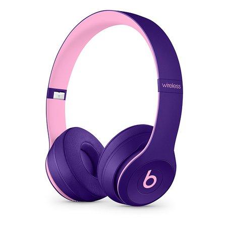 Beats Solo3 Wireless On-Ear Headphones – Pop Violet – Beats Pop Collection - Apple (UK)