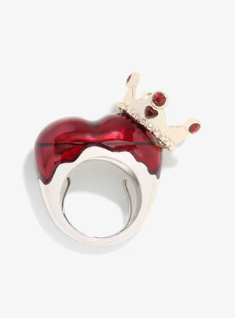 Love And Madness Disney Alice In Wonderland Red Queen Crown Ring