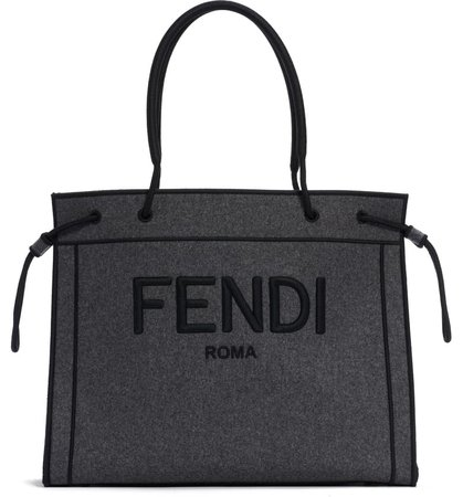 Fendi Logo Wool Shopper Tote   Nordstrom