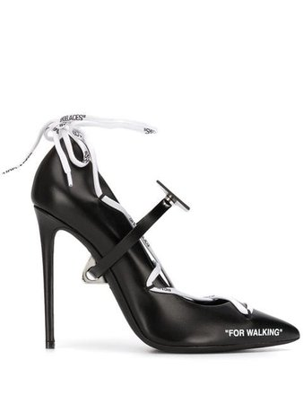 Off-White lace-up 110 Pumps - Farfetch