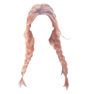 Twin Braids Pink Hair PNG