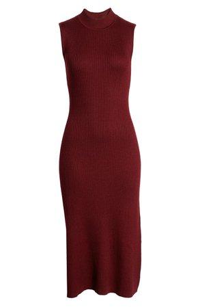 All in Favor Ribbed Midi Sweater Dress | Nordstrom