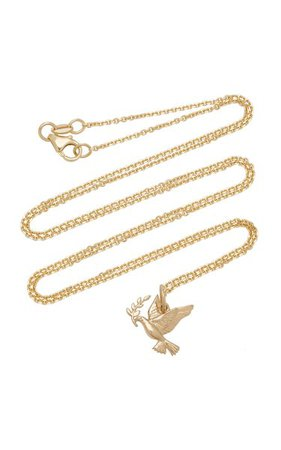 Peace 14k Gold Necklace By With Love Darling | Moda Operandi