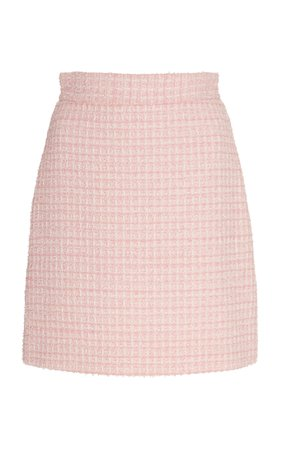 Pink Tweed Mini Skirt