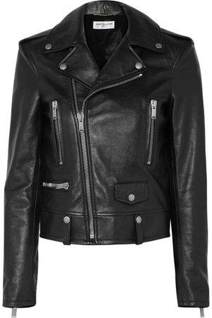 SAINT LAURENT | Printed leather biker jacket | NET-A-PORTER.COM