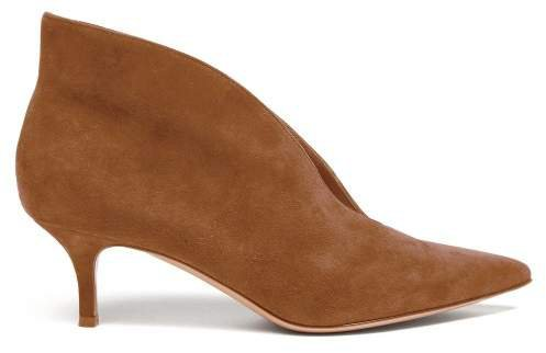 Vania 55 Suede Ankle Boots - Womens - Nude