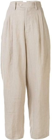 Wide-Leg Flared Trousers