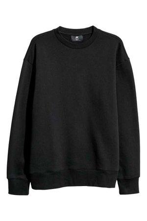 Sweatshirt Loose fit - Black - Men | H&M GB