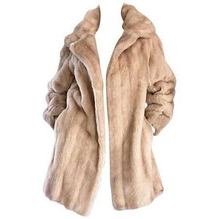 Vintage Lilli Ann 1960s Faux Fur Coat