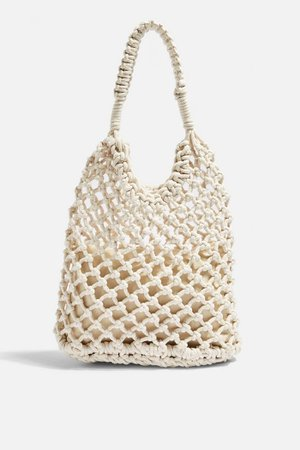 SIZZLE White Rope Tote Bag | Topshop