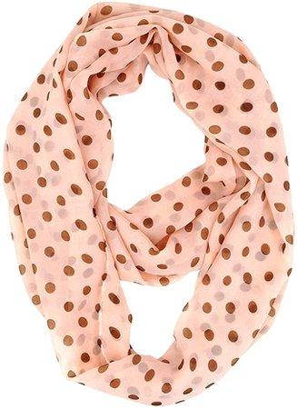 Tapp C. Fashion Polka Dots Infinity Scarf - White at Amazon Women's Clothing store