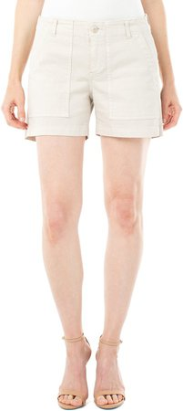 Utility Cotton Blend Shorts