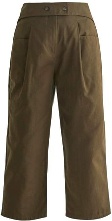 Nia Cropped Trousers In Green