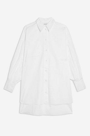 PETITE White Oversized Poplin Shirt | Topshop