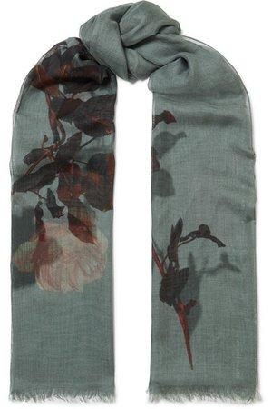 Dries Van Noten | Faedra floral-print silk and modal-blend gauze scarf | NET-A-PORTER.COM