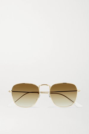 Gold Frank square-frame gold-tone sunglasses | Ray-Ban | NET-A-PORTER
