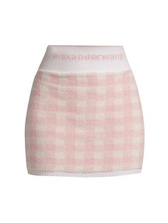 alexanderwang.t Gingham Knit Mini Skirt