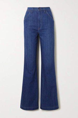 High-rise Wide-leg Jeans - Indigo