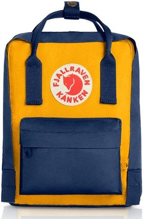 Amazon.com: Fjallraven, Kanken Mini Classic Backpack for Everyday, Navy/Warm Yellow: Basic Multipurpose Backpacks: Clothing