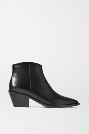 Black 45 leather ankle boots | Gianvito Rossi | NET-A-PORTER