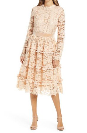 Rachel Parcell Ruffle Lace Long Sleeve Dress (Nordstrom Exclusive) | Nordstrom