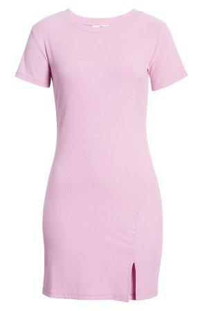 BP. Front Slit Rib T-Shirt Dress | Nordstrom