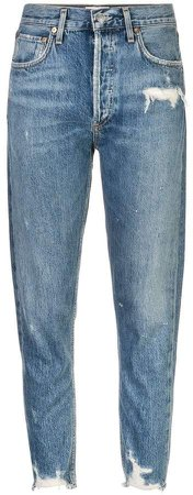 AGOLDE distressed high-rise jeans