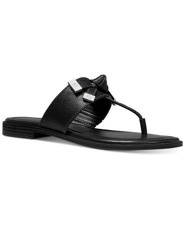 Michael Kors Ripley Thong Sandals & Reviews - Sandals & Flip Flops - Shoes - Macy's black
