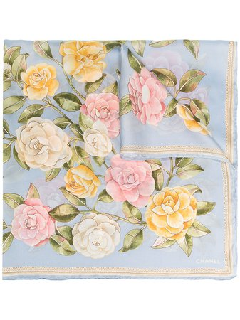 Chanel, floral print scarf