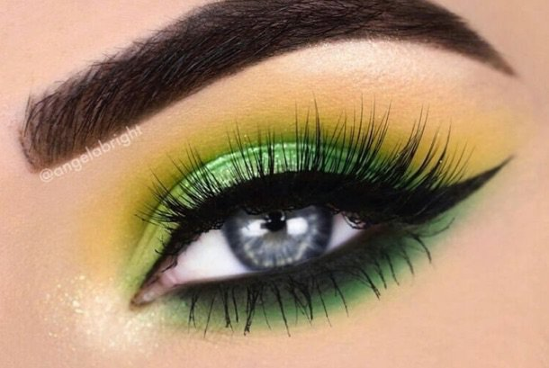 Green/Yellow Eye Makeup