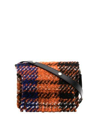 Marni tartan fringed shoulder bag - FARFETCH